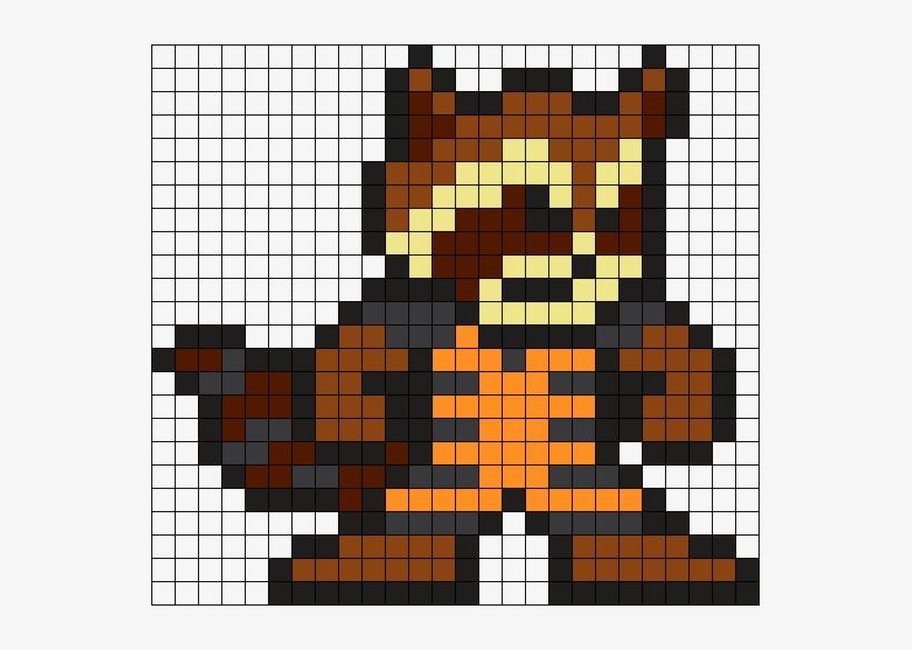 Rocket Raccoon Perler Bead Pattern Bead Sprite Pixel Art