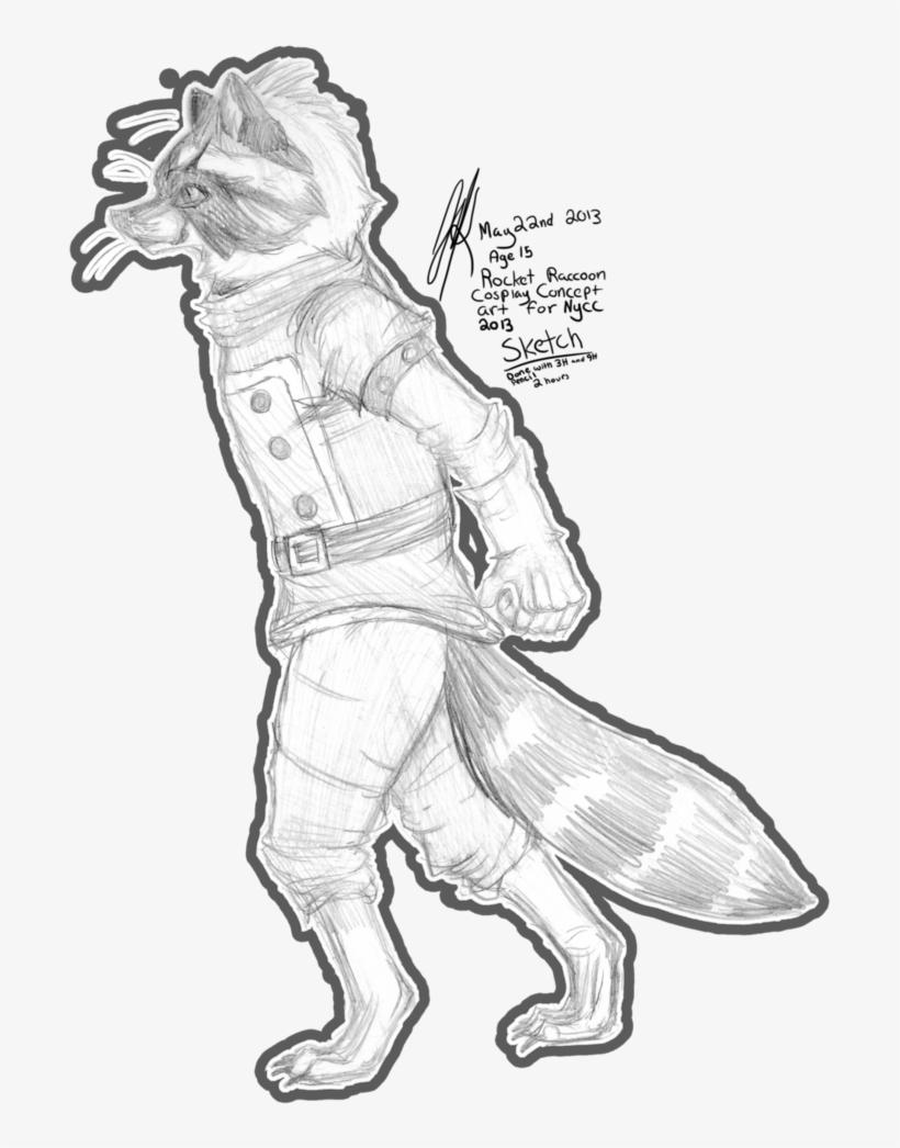 Drawing Raccoon Sketch Rocket Raccoon Art Draw Transparent Png