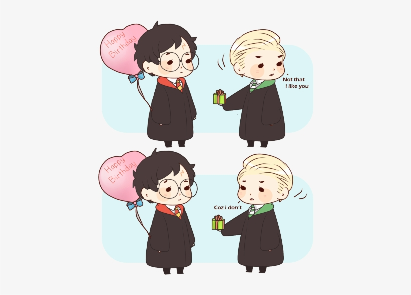 Drarry Chibi: Harry Potter Fanart Draco Malfoy Drarry Kawaii Desu
