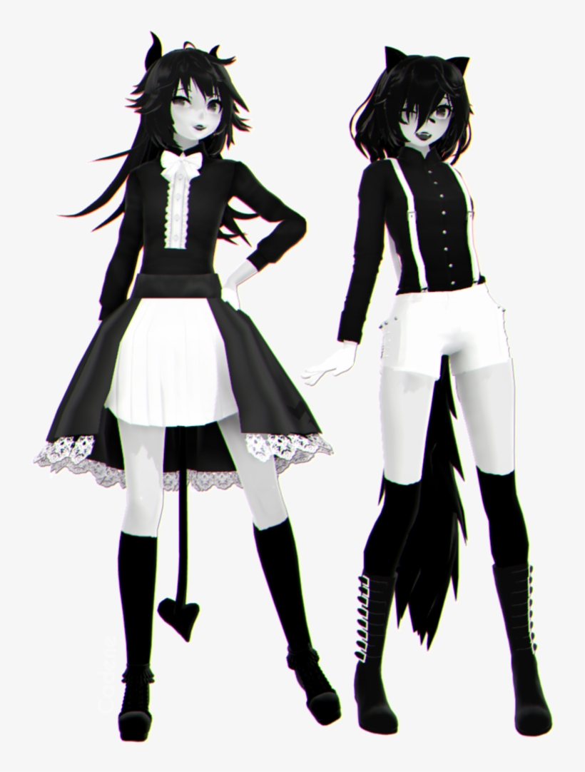 Bendy And Fem Boris //dl// By Cadene - Female Mmd Tda Outfit