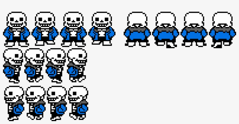 Sans Walking Sprite Sheet Sprite Sans Rpg Maker Mv Transparent Png