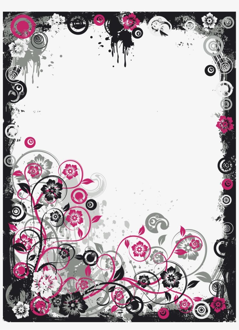 Black And Pink Modern Transparent Frame Pink And Black Frames