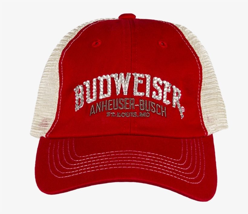db9c4835d1858 Budweiser Bling Hat- Red Trucker - Hat Transparent PNG - 1024x1024 ...