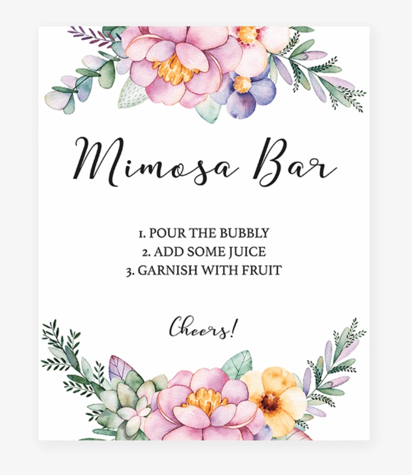graphic about Free Printable Mimosa Bar Sign called Purple Crimson Flower Mimosa Bar Printable By way of Littlesizzle