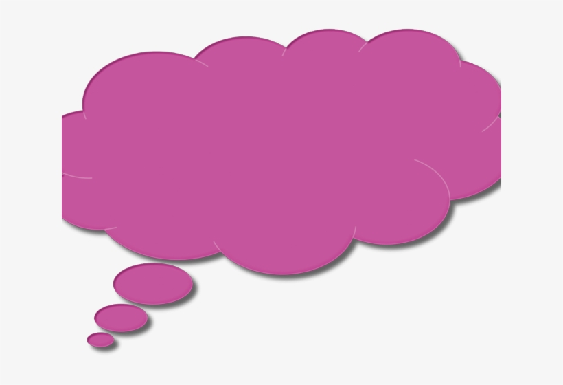 Thought bubble pink. Speech clipart thinking colored
