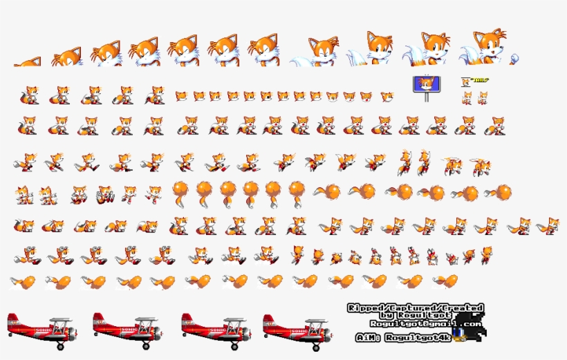 Tails Sonic The Hedgehog 2 Sprite Transparent Png 949x584 Free