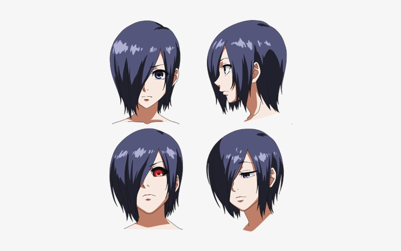 Purple Hues Which Match Her Hair Tokyo Ghoul Touka Eyes Transparent Png 400x436 Free Download On Nicepng