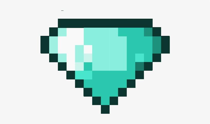 Minecraft Diamonds Png Pixel Heart Transparent PNG 538x539