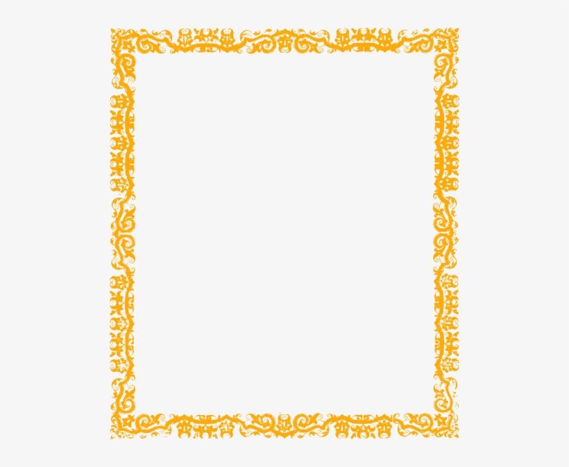 Orange Floral Border Png Free Download Simple Border Design Yellow