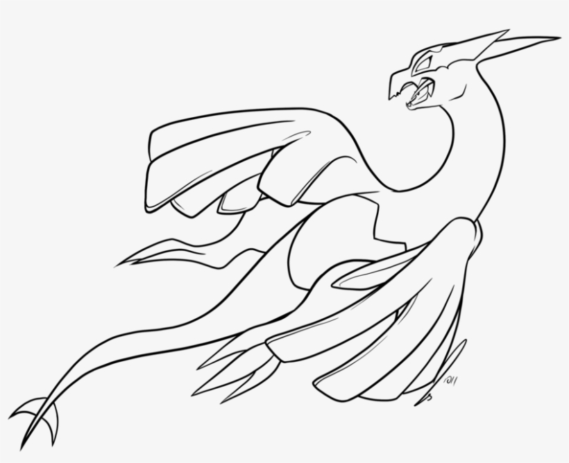 Browsing Deviantart - Lugia Legendary Pokemon Coloring Page Transparent PNG  - 900x675 - Free Download On NicePNG