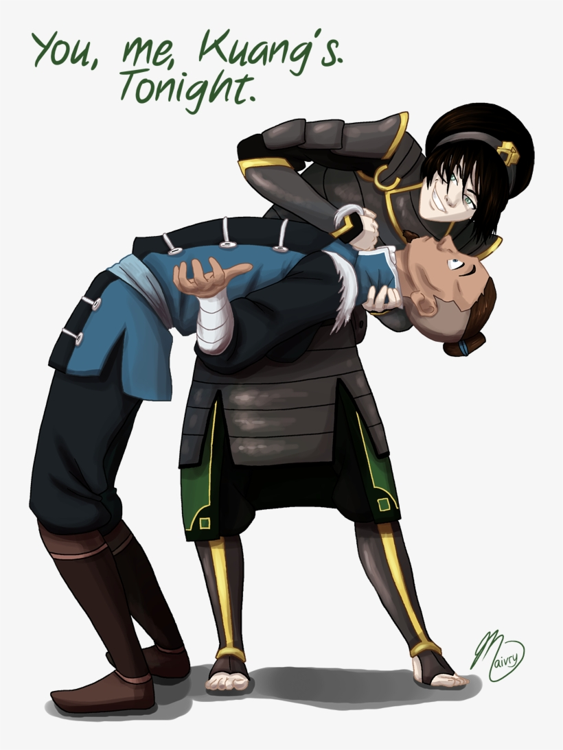 Katara and Toph Im With Stupid by StarDust112 on DeviantArt