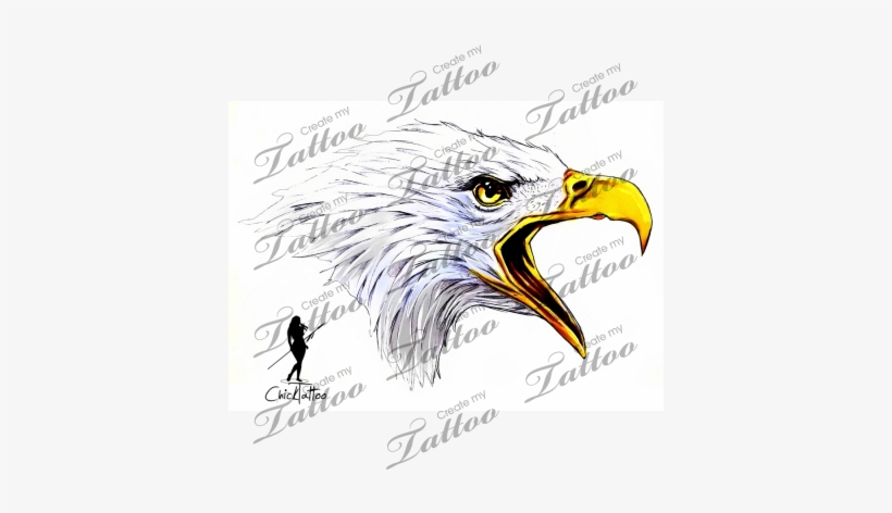 Marketplace Tattoo Eagle Head - Eagle Head Tattoo Outline
