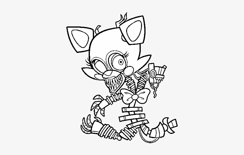 This is a picture of Free Printable Five Nights at Freddy's Coloring Pages in printing