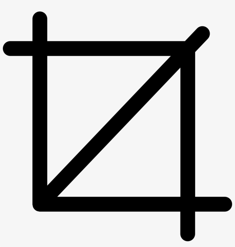Cropping Tool Interface Square Symbol Of Straight Lines Crop Tool