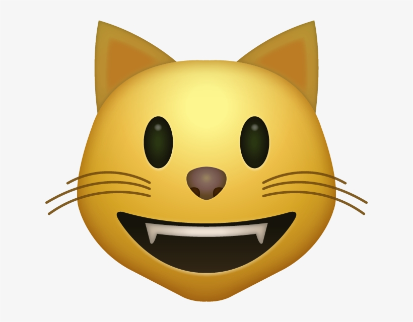 Download Smiling Cat Iphone Emoji Jpg Cat Emoji Png Transparent Png 640x560 Free Download On Nicepng