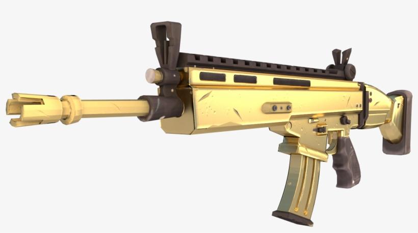 Fortnite Battle Royale Weapon Firearm Fn Scar Fortnite Golden Scar Png Transparent Png 1920x1080 Free Download On Nicepng