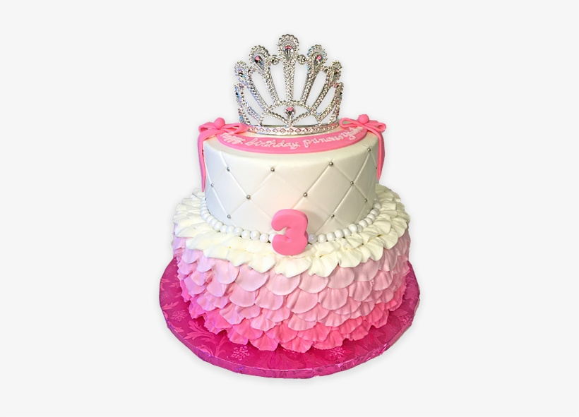 Princess Custom Birthday Cake With Crown