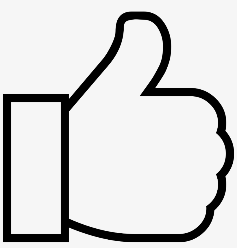 Thumbs up black. Facebook png download clipart