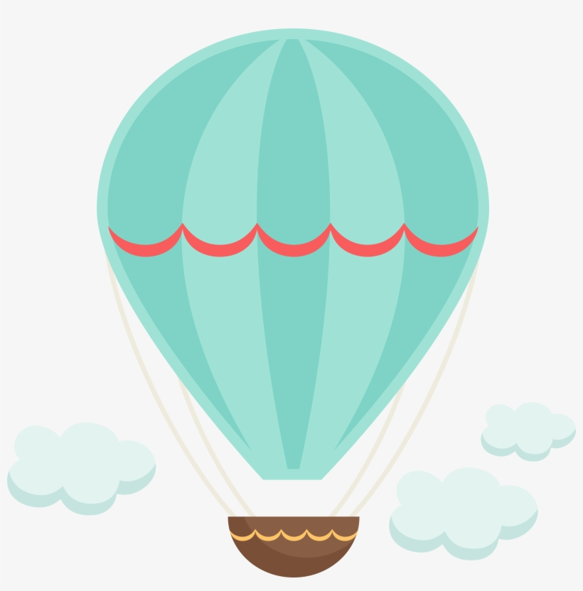 Hot Air Balloon Scrapbooking Clip Art - Hot Air Balloon ...