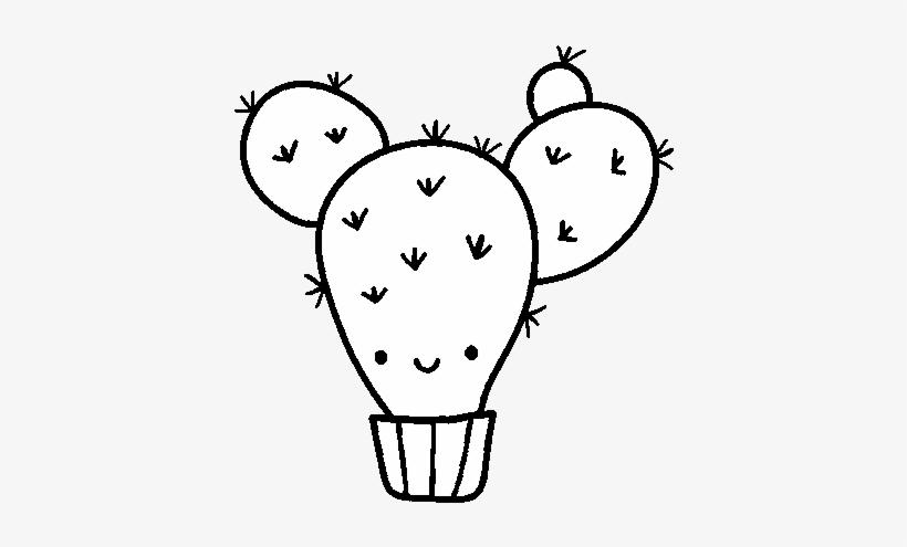Dibujo De Cactus Nopal Para Colorear Drawing Transparent