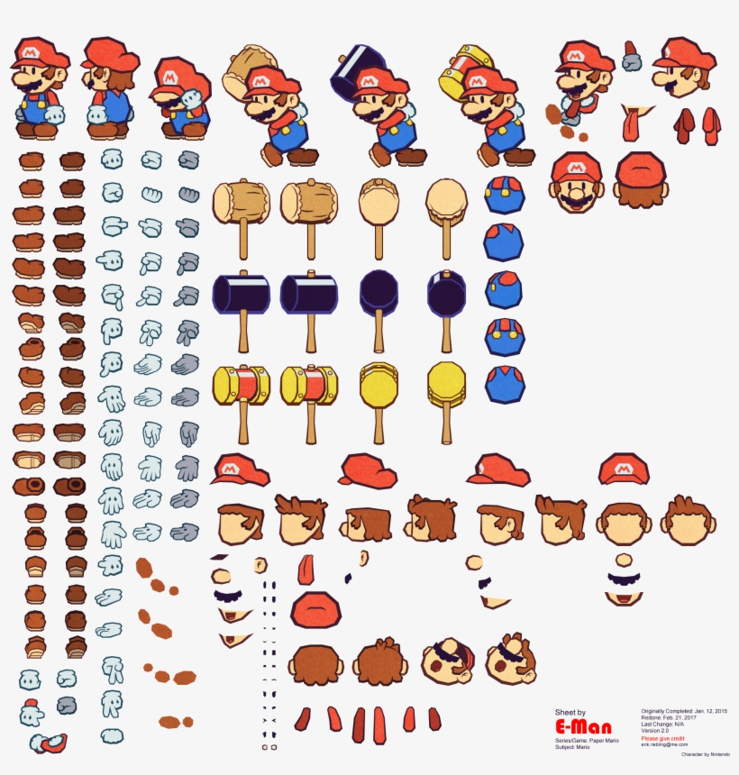 Nk8mkta ] - Super Mario Animation Sprite Sheet Original