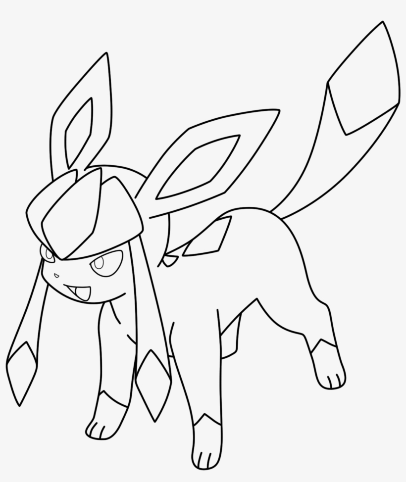 Glaceon by kizarin on deviantart glaceon pokemon coloring pages eevee evolutions