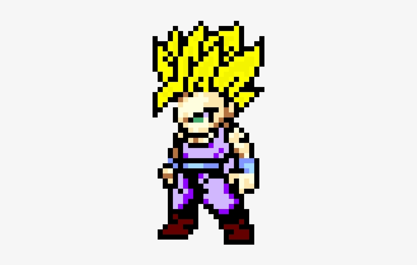 Gallery Of Trunks Pixel Art Trunks Goten Sprite By Gohan