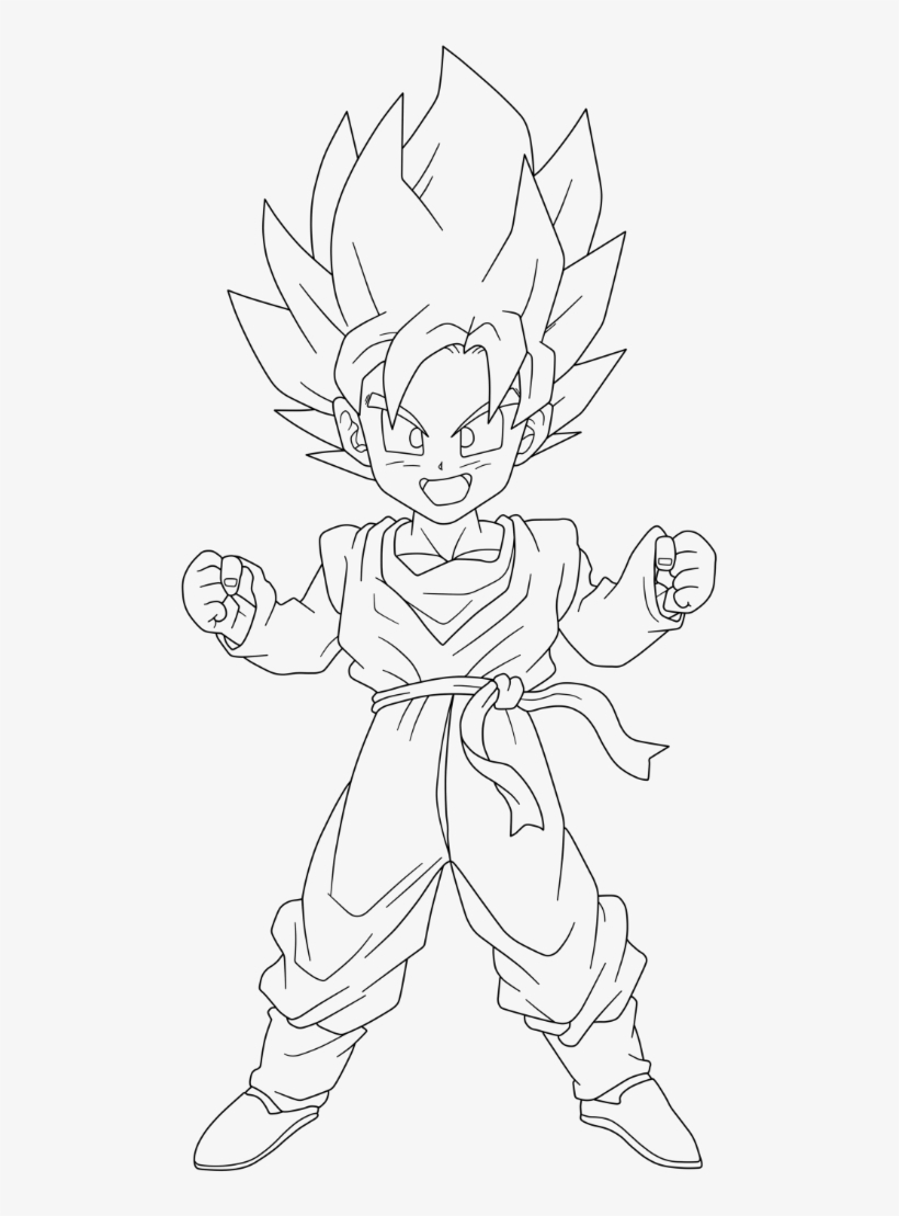 Free Dragon Ball Z Gotenks Coloring Page, Download Free Clip Art ... | 1109x820