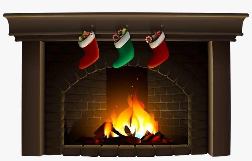 Christmas Fireplace Clipart Transparent Png 8000x4801