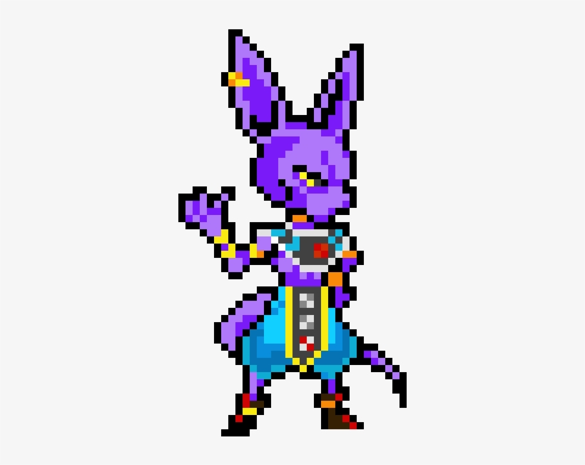 Beerus The Destroyer Pixel Art Hit Dragon Ball Transparent