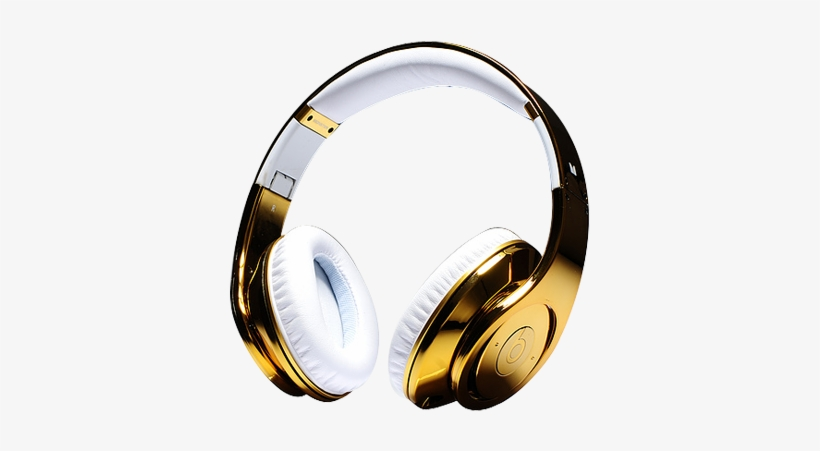 Beats By Dre Studio Electroplating Gold Cloer Headphones Beats Cheap Transparent Png 400x420 Free Download On Nicepng