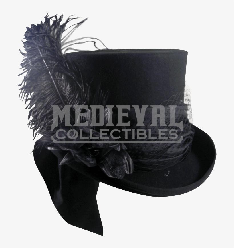 Mad Hatter Black Felt Top Hat Hat Transparent Png 791x791 Free Download On Nicepng