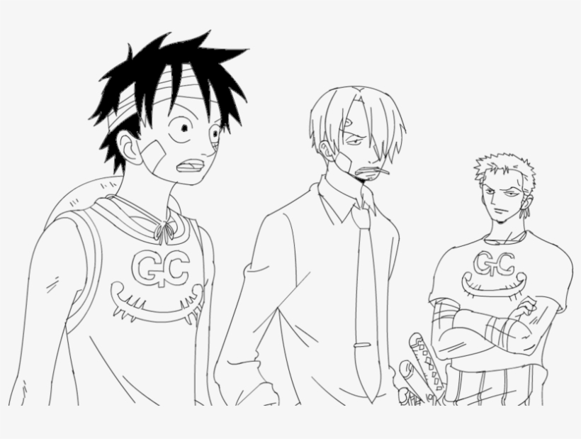 28 Collection Of Luffy And Zoro Drawing Luffy Sanji Zoro Drawing Transparent Png 1024x576 Free Download On Nicepng