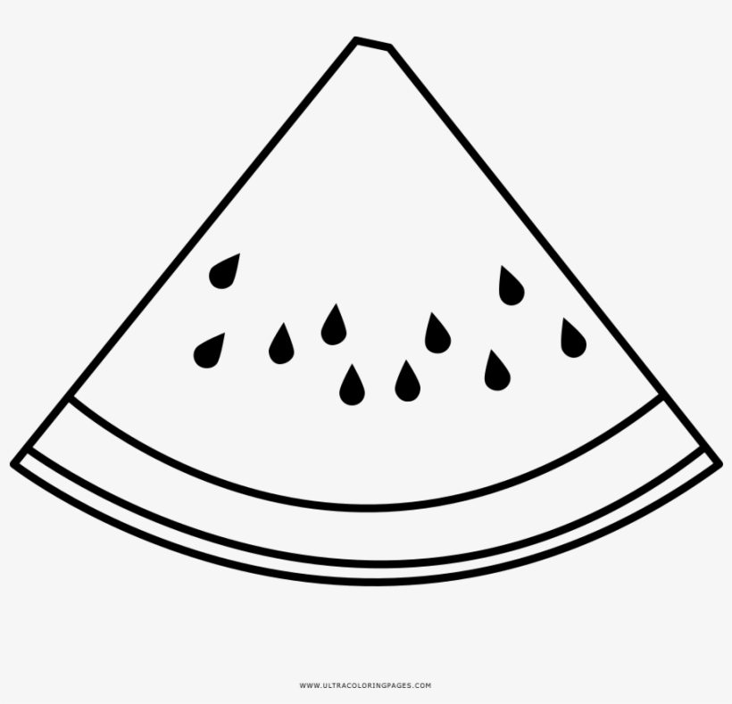 Watermelon Slice Coloring Page Drawing Transparent Png 1000x1000