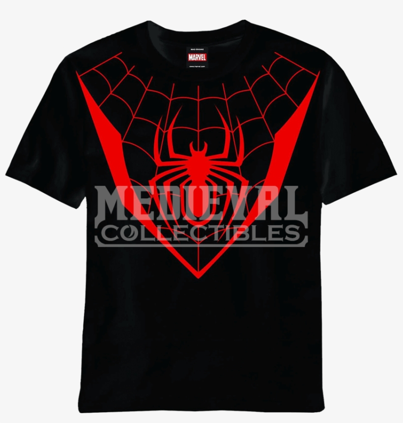 Ultimate Fallout Spiderman T Shirt Miles Morales Logo