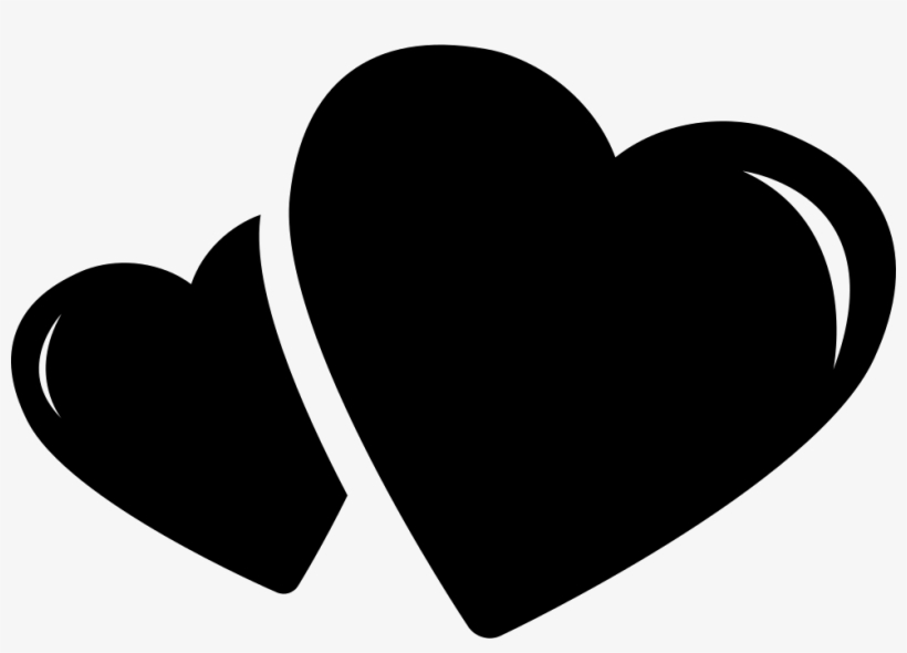 Two Hearts Black Hearts Icon Transparent Transparent Png
