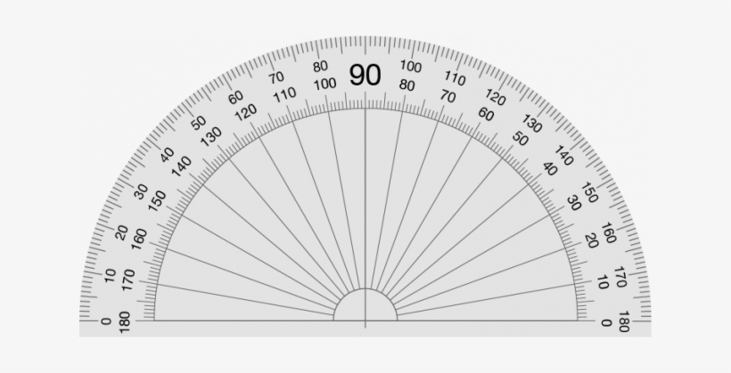 This is a picture of Protractor Printable inside drawing