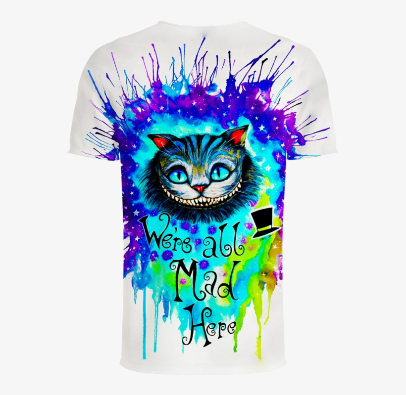 We/'re All Mad Here Cheshire Cat Alice In Wonderland Funny T-shirt Disney shirt