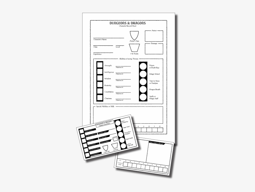 Index Card Sheet - Index Card Rpg Character Sheet Transparent PNG