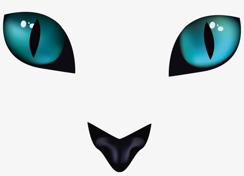 a6ad1e3cb5 Cats Eye Horrible Black Cat Transprent Png - Ojos De Gato Dibujo ...
