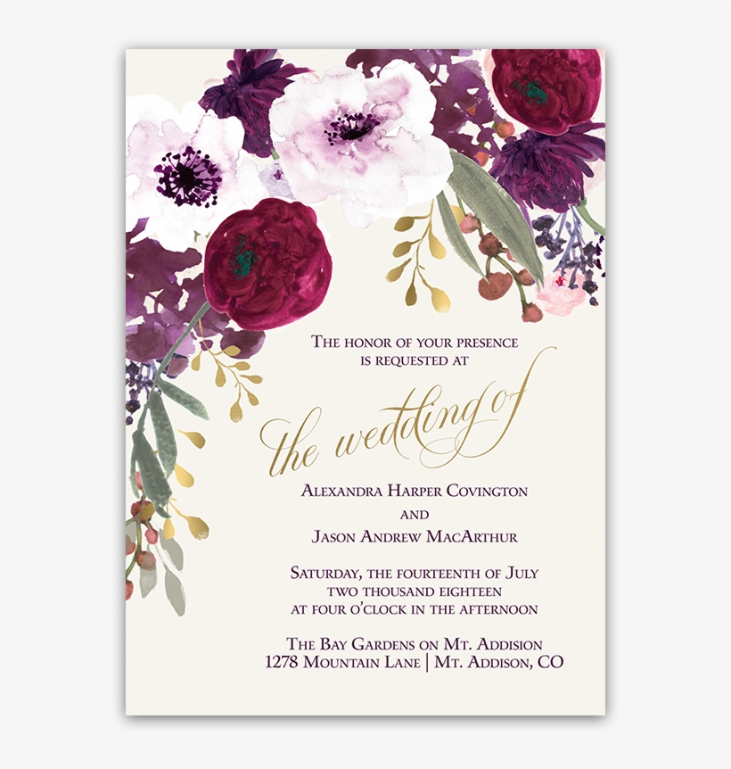 Purple Flower Wedding Invitations Floral Wedding Invitations Png Wedding Flower Invitation Design Transparent Png 900x900 Free Download On Nicepng,Necklace Grt Antique Jewellery Designs