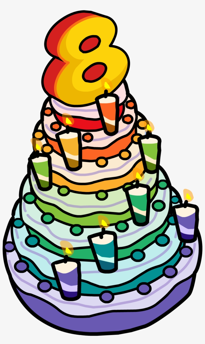 Groovy 8Th Anniversary Party Cake Birthday Cake 8 Clipart Transparent Funny Birthday Cards Online Eattedamsfinfo