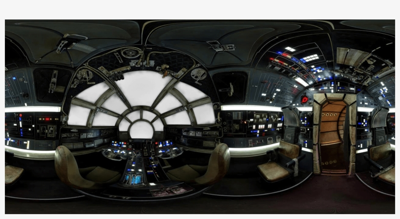 Millennium Falcon 360 Cockpit View Transparent PNG - 2048x1024