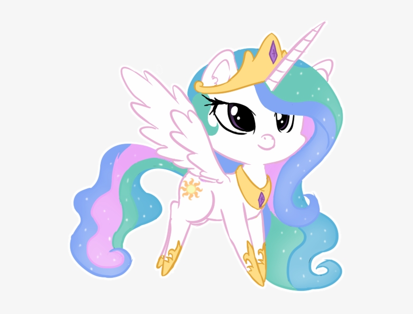 Princess Celestia My Little Pony Chibi Png Transparent Png 600x550 Free Download On Nicepng