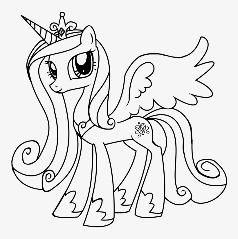 My Little Pony Princess Cadence Coloring Pages Printable My