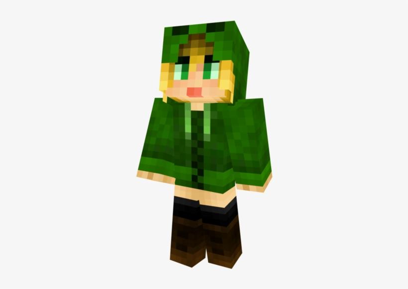 Hukupng Minecraft Skin Creeper Hoodie Girl Transparent Png