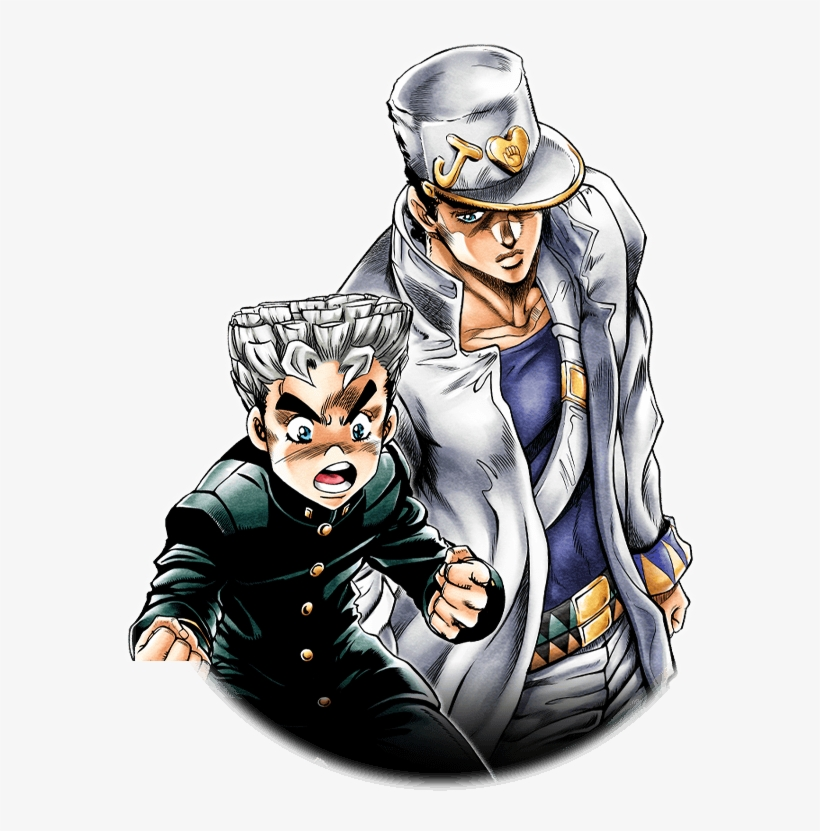 Unit Jotaro Kujo And Koichi Hirose Koichi Hirose Jotaro Kujo