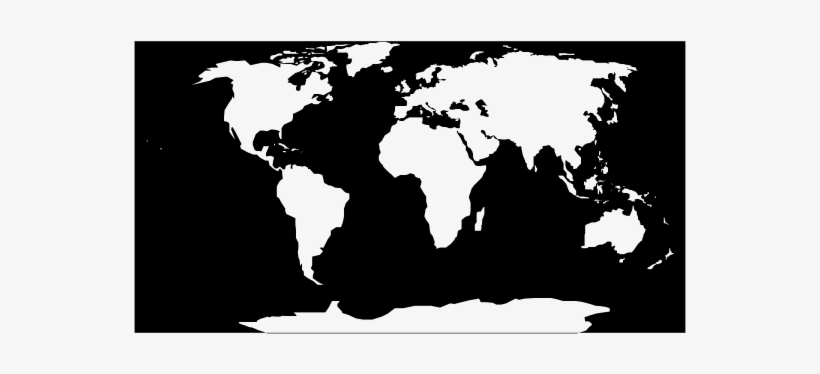 World Map Black White Rubber Stamp - Oval World Map Png Transparent ...
