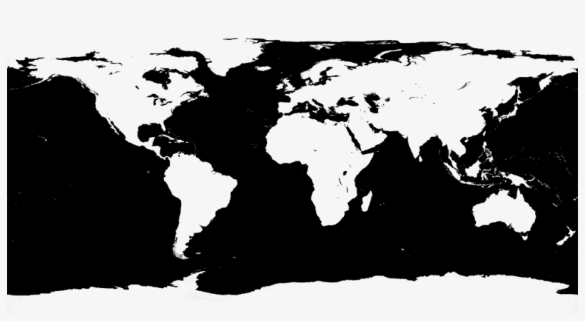 1 Reply World Map Blank No Borders Transparent Png 1000x500