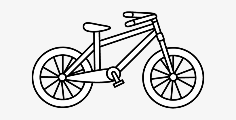 Black And White Bicycle Clip Art Bike Clipart Black And White Transparent Png 600x340 Free Download On Nicepng